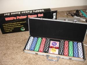 500Pc poker game set